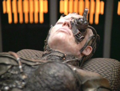 In Sickbay A drone no longer Seven of Nine severed from the Borg Collective